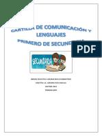 Cartilla 1ro a Sec. Comunicación y Lenguajes