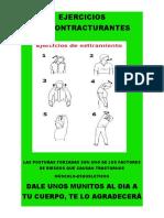 AFICHE EJERCICIOS DESCONTRACTURANTES