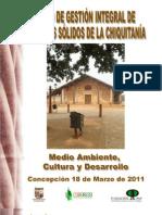 MEMORIA DEL I FORO DE GESTION INTEGRAL DE RESIDUOS SÓLIDOS DE LA CHIQUITANIA