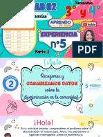 MATEMATICA 3ro y 4to ACTIVIDAD 2 - EXP 5 - Recogemos y organizamos datos-parte 1