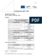 Europe for Citizens 2011 User Guide En