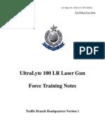 Ultralyte Laser Gun 100 Force Training Notes