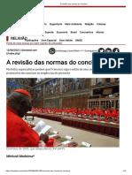 A revisão das normas do conclave