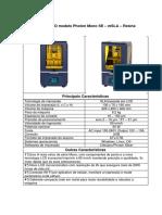Impressora 3D Modelo Photon MONO SE