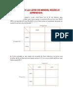 CLASE # 4 - ACTIVIDAD - PRIMERA Y SEGUNDA LEY DE MENDEL