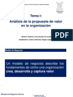 Clase Tema i Análisis de La Propuesta de Valor de Una Organización