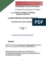 Laudo Pericial de Insalubridade - Resumo PPT _ PUC 2010