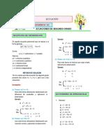 Matemática S01 - Álgebra  2020 - 5° Secundaria_Ecu. segundo grado