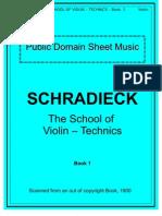 Schradieck School of Violin Technics - Book 1