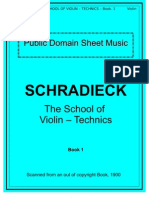 Schradieck School of Violin Technics - Book 1