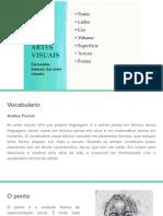 ELEMENTOS FORMAIS - ARTES VISUAIS