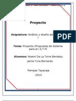 PROYECTO DE ANALIS DE SISTEMAS