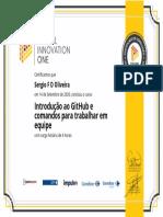 Certificado - Introdução ao GitHub e comandos para trabalhar em equipe