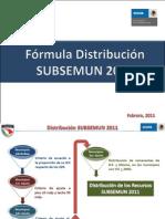 Distribución Subsemun 2011