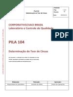 PILA 104 PROCEDIMENTO TEOR DE CINZAS