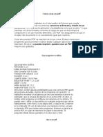 KMILO Como crear un pdf