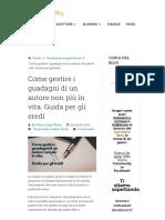 Come Gestire i Guadagni Di Un Autore Non Più in Vita. Guida Per Gli Eredi _ Youcanprint.it