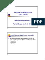 Análise de Algoritmos com Listas