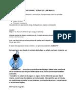 Prestaciones y servicios laborales[1]