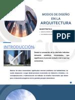 Modos de Diseño en La Arquitectura