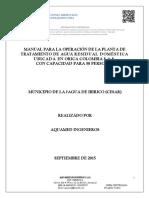 Manual de Operación PTAR