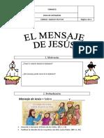 FICHA-DE-CATEQUESIS-MENSAJE DE JESÚS 2016