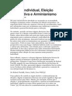 Eleição Individual, Eleição Corporativa e Arminianismo