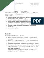 Examen Analyse Numerique