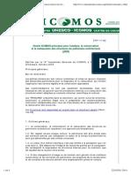 Charte ICOMOS, principes pour l'analyse, la conservation et la restauration des structures du patrimoine architectural