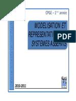 Modelisation Et Representation Des Systemes Asservis. PDF Cour