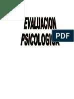 evaluacion sicologica