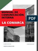 Manual de Comunicación Interna - LA COMARCA