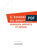 L' ESSENTIEL Du Droit Des Marques Brevets Et Designe