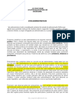 APOSTILA - DIREITO - DIREITO ADMINISTRATIVO - ATOS ADMINISTRATIVOS - JUS PRAETORIUM