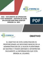 Manual de Operacion Plataforma Fleet Manager - Gestion Flota - WEB APPLICATION ver2.0