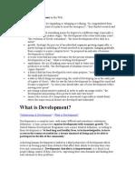 Definitions of development