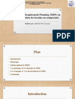 Material Requirement Planning (MRP) ou Planification des besoins en composants