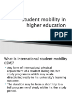 Student mobility in higher education