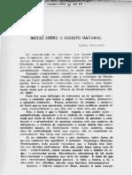 Notas sobre o Direito Natural - Prof. Luiz Maria de Souza Delgado, 1931