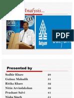 Final Presentation Satyam Scam