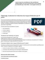 1.Dépistage, traitement et réduction du risque d'infection par H. pylori - Société canadienne du cancer