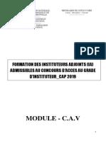 Formation IA 2021_Module CAV