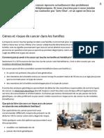 Gènes Et Risque de Cancer Dans Les Familles - Société Canadienne Du Cancer