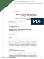 Relación Entre Arquitectura - Ambiente y Los Principios de La Sustentabilidad