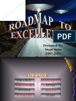 Road map to excellence- Infosys Example
