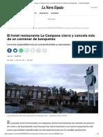 El Hotel Restaurante La Campana Cierra y Cancela Más de Un Centenar de Banquetes - La Nueva España