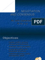 CONFLICT , NEGOTIATION AND CONSENSUS