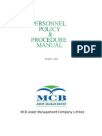 Personnel Policy & Procedure Manual