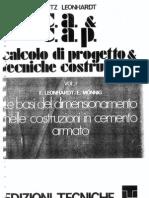 LEONHARDT - I - Le Basi Del Dimension Amen To Nelle Costruzioni in Cemento