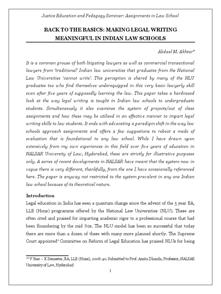 Reforming Legal Education  PDF  Precedent  Reason